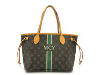 Authentic LOUIS VUITTON Mon Monogram Neverfull PM M40155 Tote Bag Leather 91020