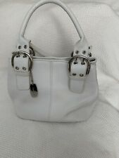 Tignanello White Leather Buckle Satchel Pre-owned