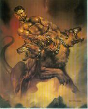 Boris Vallejo postercard: Hercules vs. Cerberus (estados unidos, 1992)