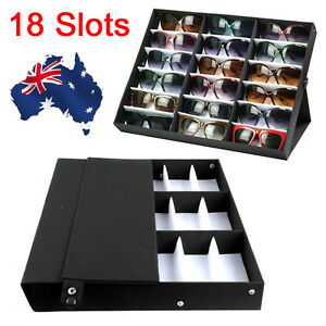 18 Slots Sunglasses Display Counter Stand Storage Rack Cabinet Organizer Tray