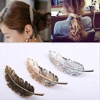 Women's Leaf Feather Hair Clip Hairpin Barrette Bobby Pin Hair Accessories