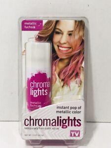 CHROMALIGHTS Instant Metallic Fuchsia Temporary Hair Color Spray Halloween