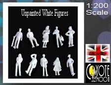 Modelo de arquitectura de escala 1:200 figuras personas Z calibre Blanco-Paquete de 100 Sin Pintar