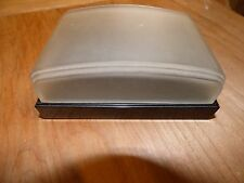 Vintage Hickok black Lucite and Frosted Glass Art Deco Cigarette Case