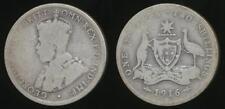 Australia, 1916(m) Florin, 2/-, George V (Silver) - Good/Poor