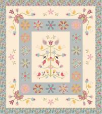 Sue Daley Whimsical Garden Quilt Kit English Paper Pieces Pattern