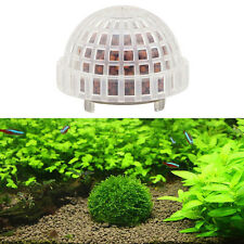 Clear Aquarium Fish Tank Media Moss Ball Ornament Decor For Live Plant Aquatic