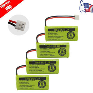 4x Cordless Phone Battery For AT&T BT-8001 BT-8300 Uniden BT18433 BT1011 BT1018
