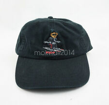 Black POLO Skiing Bear Sportman Hat Varsity Ski Baseball Football Golf GYM Cap