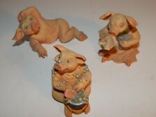 Pigtail ornaments. Three Pigtails collectable ornaments