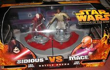"STAR   WARS   DARTH   SIDIOUS  vs   MACE  WINDU   33/4""  ACTION  FIGURE"