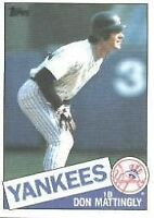 1985 Topps Don Mattingly #665 Baseball Card