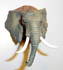 Mounted Elephant Head Miniature 1/24 Scl Half Scale Dollhouse Diorama Accessory