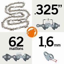 """Chaîne tronçonneuse KERWOOD 62 maillons 0.325"""", 1,6mm"""