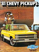 1981 Chevrolet Chevy Silverado Truck 20-page Original Sales Brochure Catalog