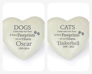 PERSONALISED REMEMBRANCE CAT DOG PET Grave Memorial Vase Ornaments Stone Plaque