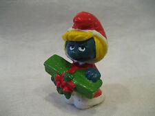 1981 vintage SMURFETTE Christmas Smurf Schleich Peyo Smurfs pvc figure toy RARE