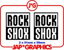 Rock Shox Mountain Bike Bmx Downhill Mtb Sticker Decal Envío Gratis