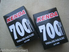 2 x Kenda quality inner tubes bike cycle 700 x 35 / 43c schrader A/V Unboxed