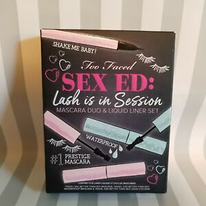 TOO FACED SEX ED: LASH IS IN SESSION MASCARA & LIQUID LINER SET ( TRAVEL SIZE )