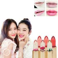 Beauty Jelly Color Changing Flower Lipstick Lip Gloss Long Lasting Moisturizing