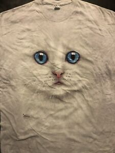 The Mountain Blue-Eyed Cat Face T-Shirt New Size 2 XL