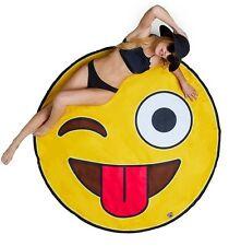Manta De Boca Grande Gigante De Playa Toalla Grande 1.5m cara sonriente emoji