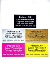 Engraved nameplate Label Decal fits Pelican 1120 1150 1170 1200 1300 case