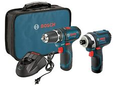 Bosch CLPK22-120 12-Volt Lithium-Ion 2-Tool Combo Kit (Drill/Driver and Impac...