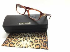 Roberto Cavalli Women Havana Honey Brown eyeglasses Full Rim 55mm
