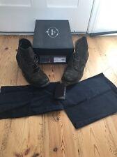 Prada Suede Shoes Men Size 8.5 Calzature Uomo Ebano