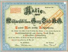 !!  MASCHINENFABRIK vorm. GEORG DORST 1922 !!TOP DEKO!!