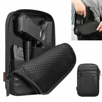 Concealed Carry Gun Pouch Pistol Holster Pack Waist Pocket with Belt Loops Black