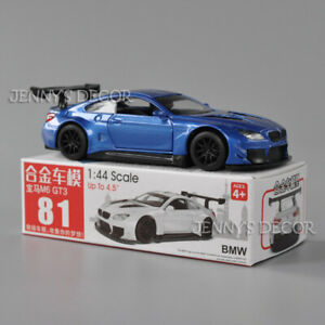 1:44 Diecast Car Model Toy BMW M6 GT3 Pull Back Miniature Replica Collection