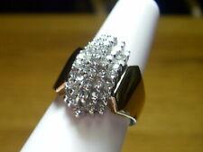 Waterfall Right Hand Ring, 1 carat twt 14K Yellow Gold 44 Diamond, 5 Row,
