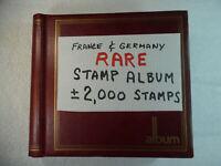 2,000 Rare Vintage Antique France & Germany Stamp Collection Album StampBook2