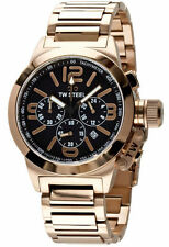 NEW - TW Steel Men's Chronograph Black Dial Rose Gold S/S Watch TW307 - RRP $575