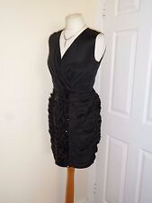 NEW ⭐️ Untold at House of Fraser ⭐️ Black Sequin Party Dress Size UK 8 RRP 60!