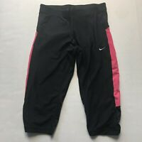 Nike Black Pink Crop Athletic Tight Back Pocket Size Small a1009
