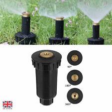 More details for 90-360° lawn garden pop up sprinkler spray head irrigation watering system black