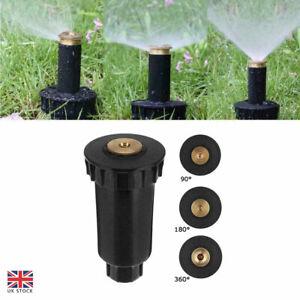 90-360° Lawn Garden Pop Up Sprinkler Spray Head Irrigation Watering System Black