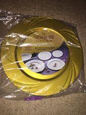 "New Maryland Plastics 15 Count Newbury Dinner Plate, 10-3/4"", Gold"