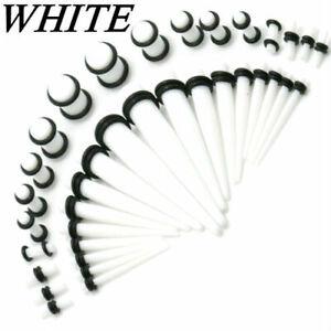 36Pcs Acrylic Ear Gauge Taper Tunnel Plug Expander Stretching Piercing Kit Sets