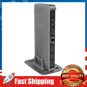 USB C Docking Station Dual Monitor Dock Equipped with 4K HDMI, LAN,USB Ports,SD