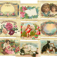 Card Topper Victorian, Tags, Vintage, Scrapbooking, Journal, Children, Dogs
