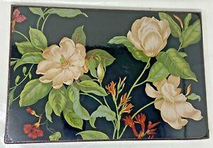 Williamsburg Black Garden Magnolias Set of 4 Placemats