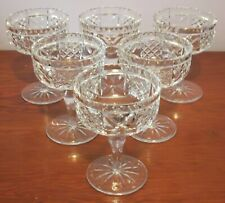 6 x Edinburgh Crystal Champagne/Sherbet or Dessert Glasses