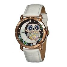 Bertha BR3004 Ashley Rose Gold-tone Steel Multicolor Owl Dial Ladies Watch
