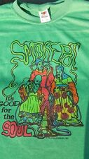 Vintage 1970's Smoke Pot Good for Soul Hash Marijuana T Shirt  Weed