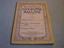 ANTIQUE NATIONAL GEOGRAPHIC August 1920 ANTIOCH U.S. State Names CHANNEL ISLANDS